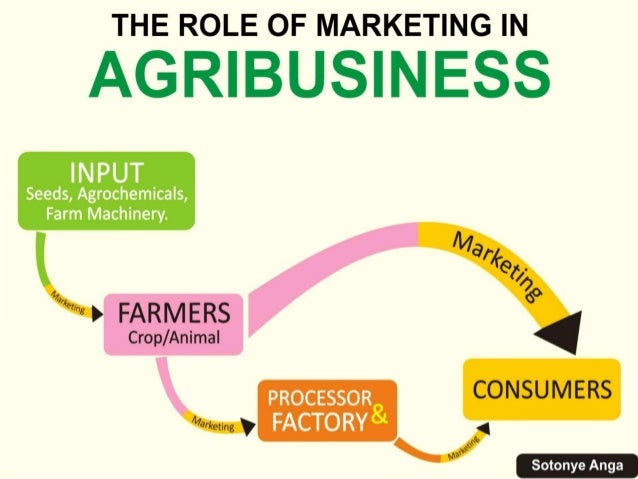 •Marketing plays a critical role across the agricultural value chain.