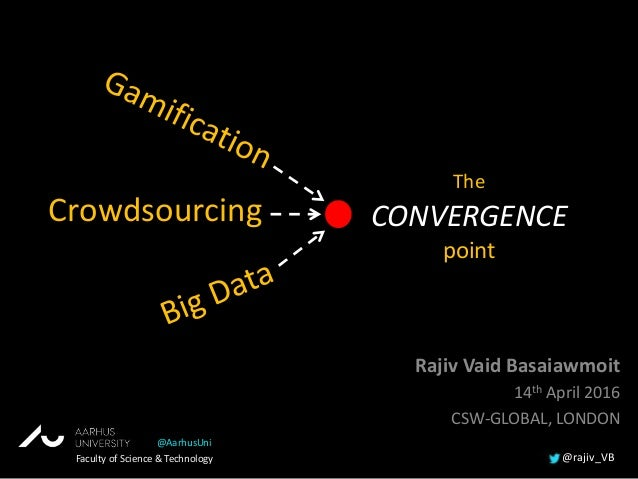 Crowdsourcing Rajiv Vaid Basaiawmoit 14th April 2016 CSW-GLOBAL, LONDON The CONVERGENCE point Faculty of Science & Technol...