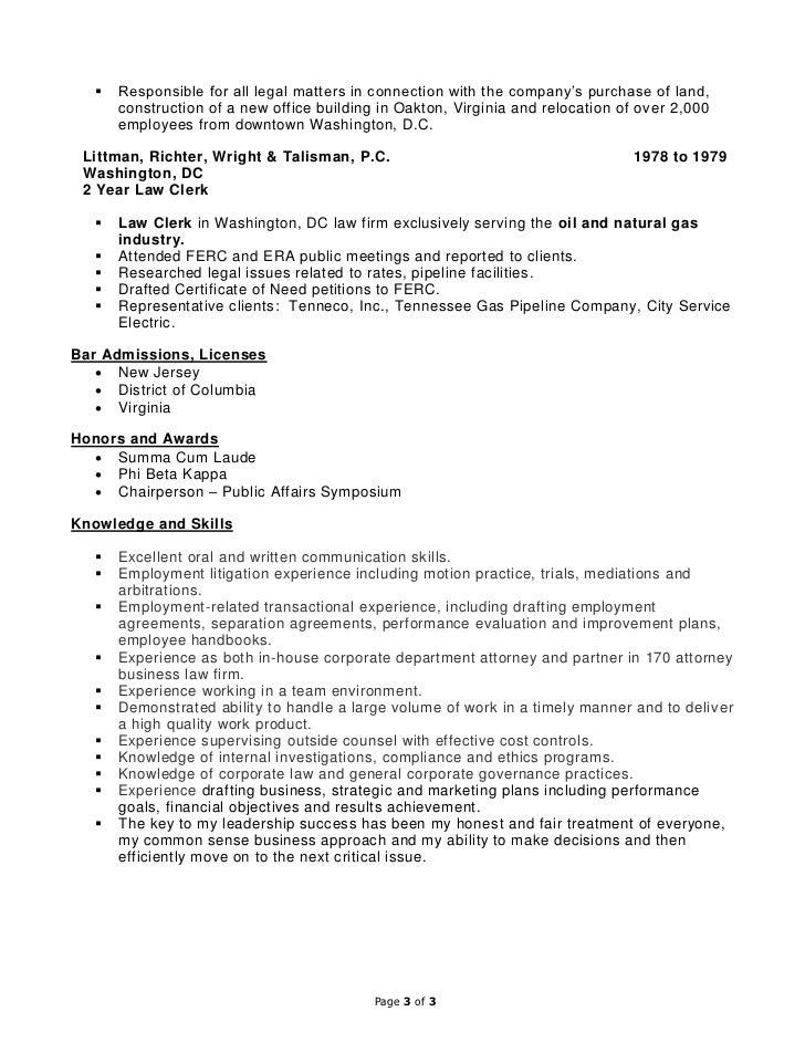 Resume Bar Admissions