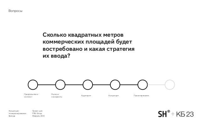 Концепции позиционирования бренда Проект для PSN Group Февраль 2015 КБ 23+ Сколько квадратных метров коммерческих площаде...