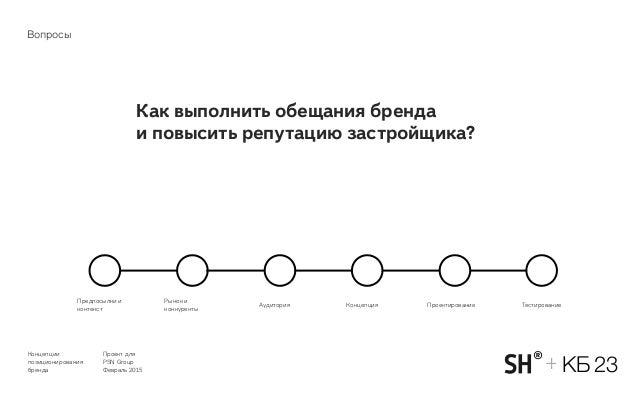 Концепции позиционирования бренда Проект для PSN Group Февраль 2015 КБ 23+ Как выполнить обещания бренда и повысить репут...