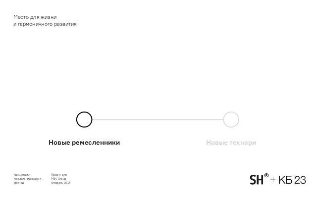 Концепции позиционирования бренда PSN Group 2015 49 Новые ремесленники