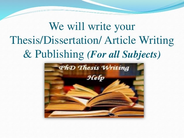 publishing thesis writing Publish your thesis all universities have their own electronic archives where student theses are published at some universities, it is optional to publish your thesis, while it is mandatory at other universities.