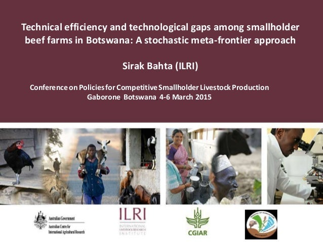 Technical efficiency and technological gaps among smallholder beef farms in Botswana: A stochastic meta-frontier approach ...