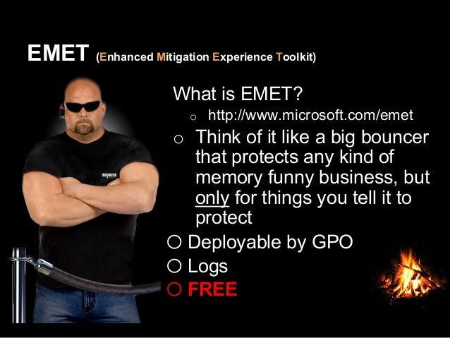 What about EMET bypasses?  http://goo.gl/QrJZdd
