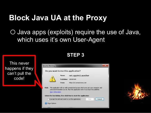Block Java UA at the Proxy  Oh yea, it protects Macs too…