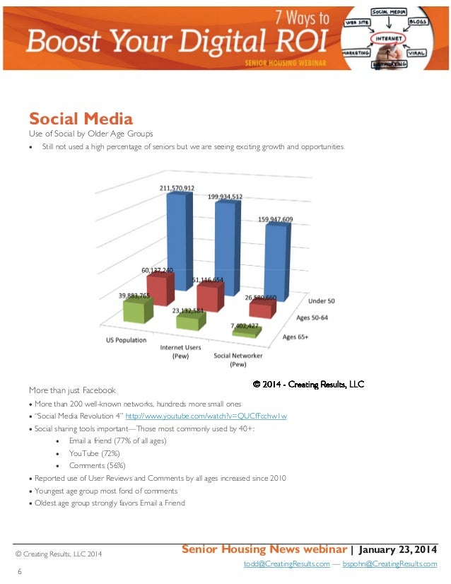 Social Media Use of Social by Older Age Groups   Still not used a high percentage of seniors but we are seeing exciting ...
