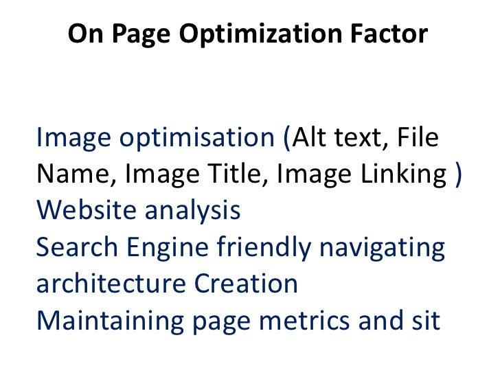 Off Page Optimization FactorDirectory Submission Free Submission         Regular Submission         Reciprocal Submission ...