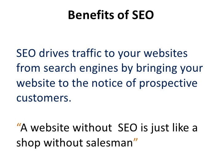 Limitations of SEOTime Factor – SEO process takesseveral months to Complete.Content Dependent – If websitecontent is not g...