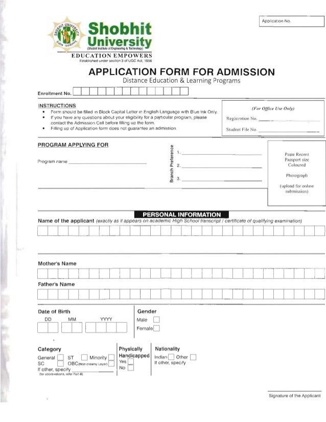 Shobhit university degree certificate sample gallery certificate shobhit university admission form yelopaper Gallery