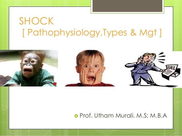 SHOCK [ Pathophysiology,Types & Mgt ]  Prof. Utham Murali. M.S; M.B.A