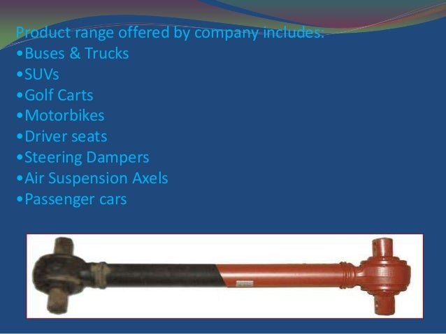 Shock absorber manufacture in india genuine products at