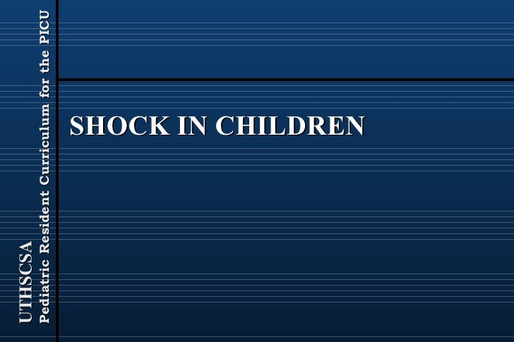 SHOCK IN CHILDREN
