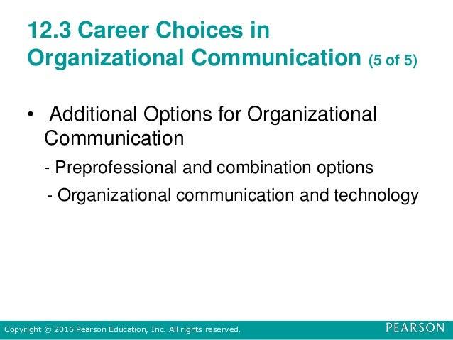 12.3 Career Choices in Organizational Communication (5 of 5) • Additional Options for Organizational Communication - Prepr...
