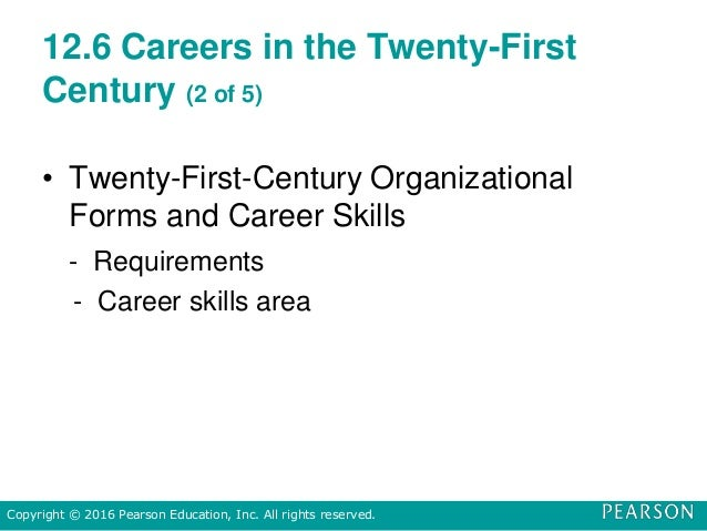 12.6 Careers in the Twenty-First Century (2 of 5) • Twenty-First-Century Organizational Forms and Career Skills - Requirem...