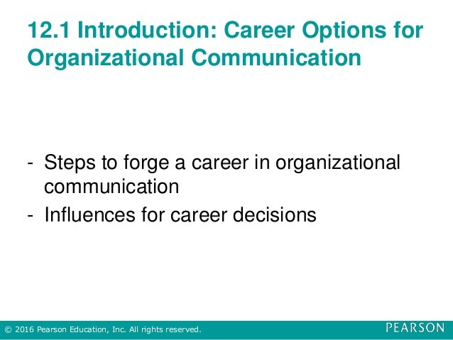 12.1 Introduction: Career Options for Organizational Communication - Steps to forge a career in organizational communicati...
