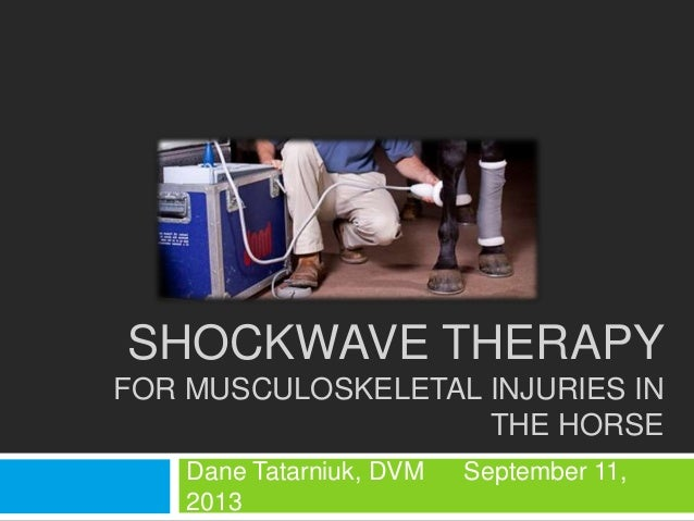 SHOCKWAVE THERAPY FOR MUSCULOSKELETAL INJURIES IN THE HORSE Dane Tatarniuk, DVM September 11, 2013