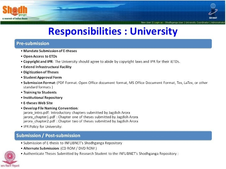 thesis repository india