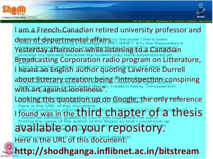 Presentation on Shodhganga - National Repository of Indian ETDs Slide 2