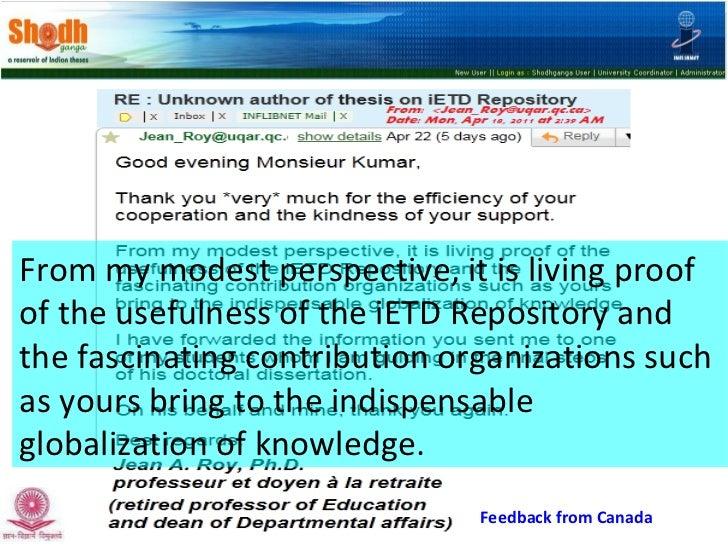 Presentation on Shodhganga - National Repository of Indian ETDs Slide 3