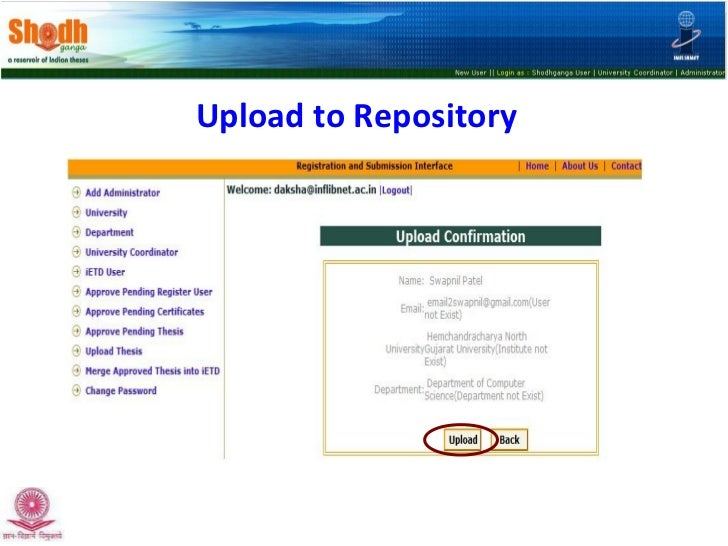 thesis repository india Status of e-theses repositories with special reference to india shantashree sengupta more than 45 institutes for creating e-theses repository scenario in india.