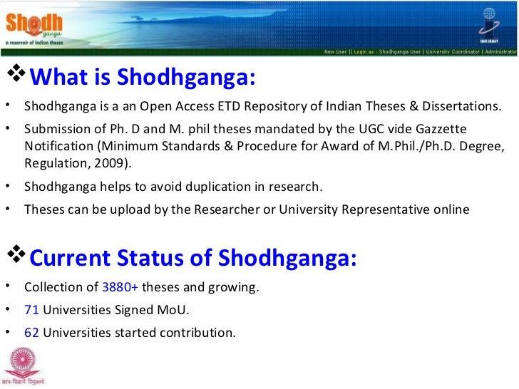 Shodhganga online thesis