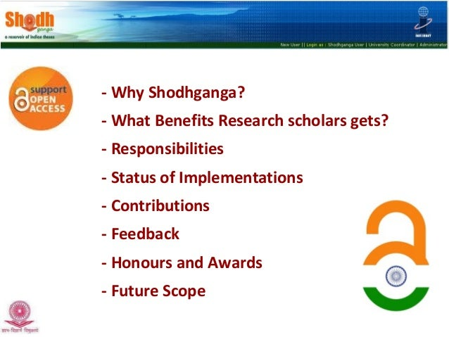 Shodhganga: a National Repository of Indian Electronic Theses and Dissertations Slide 3