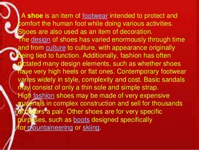 Shoes industry Slide 2