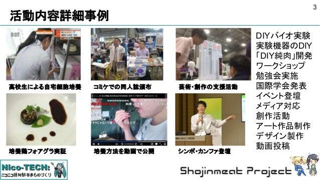 Shojinmeat Project : 純肉: 細胞培養による食糧生産へ(2018.04版) Slide 3
