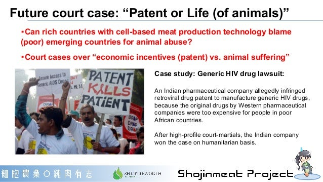 """Future court case: """"Patent or Life (of animals)"""" ・Can rich countries with cell-based meat production technology blame (poo..."""