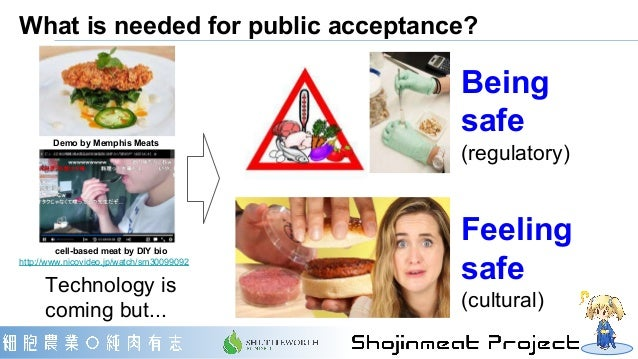 What is needed for public acceptance? Demo by Memphis Meats cell-based meat by DIY bio http://www.nicovideo.jp/watch/sm300...