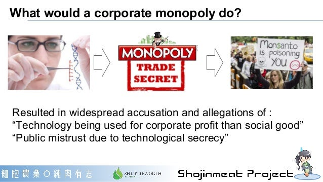 """What would a corporate monopoly do? Resulted in widespread accusation and allegations of : """"Technology being used for corp..."""