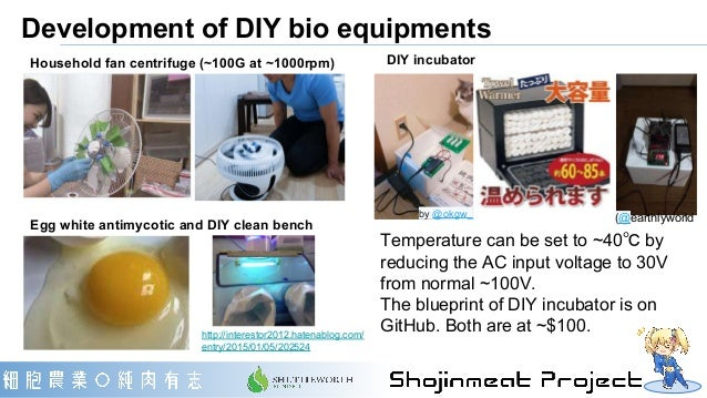Development of DIY bio equipments DIY incubator Temperature can be set to ~40℃ by reducing the AC input voltage to 30V fro...