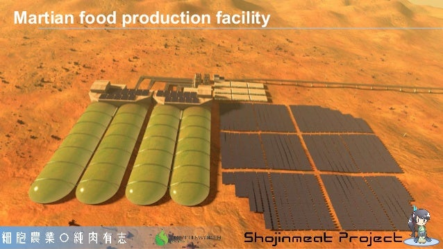 Martian food production facility