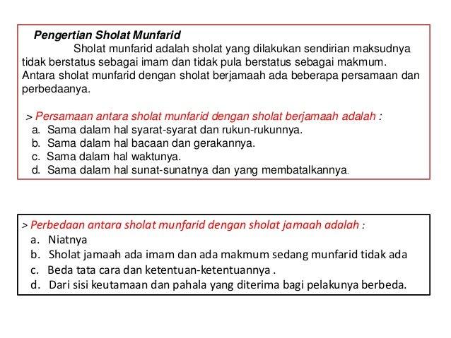 Sholat Jamaah N Munfarid
