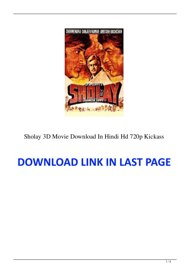 Sholay 3D Movie Download In Hindi Hd 720p Kickass 1 / 4