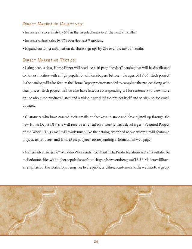 Home Depot Integrated Marketing Communications Plan - IMC 610