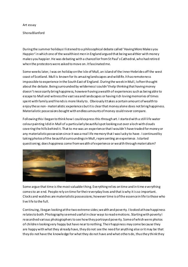 a2 an important amount style essay