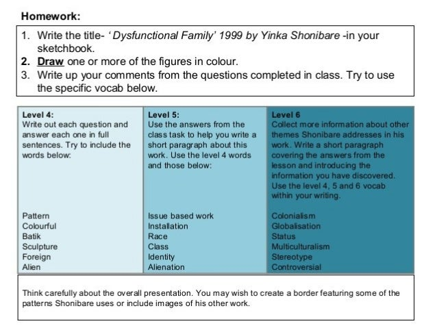 'Dysfunctional Family' by Yinka Shonibare Exercise 1 In pairs, answer the following questions: Explain what you see in the...