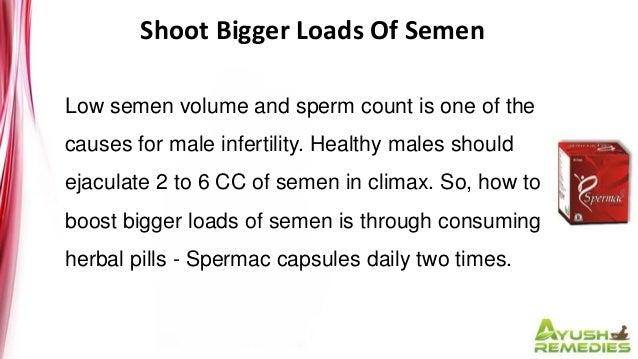 Bigger loads of sperm