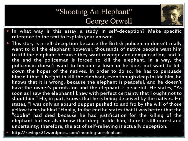 shooting an elephant symbolism