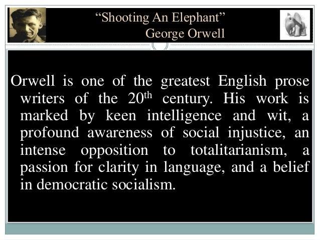 essay on shooting an elephant