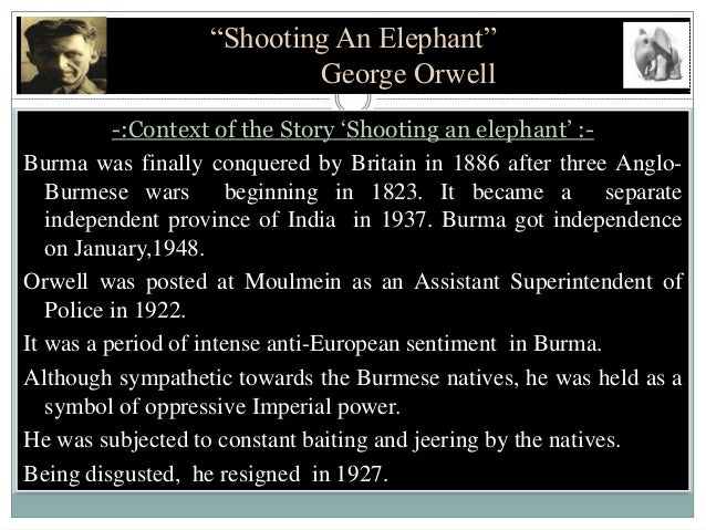 Shooting an elephant by i s