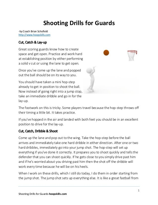 Basketball shooting drills for guards
