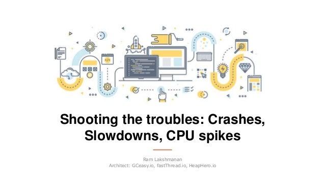 Shooting the troubles: Crashes, Slowdowns, CPU spikes Ram Lakshmanan Architect: GCeasy.io, fastThread.io, HeapHero.io