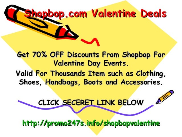 Shopbop.com Valentine DealsGet 70% OFF Discounts From Shopbop For           Valentine Day Events.Valid For Thousands Item ...