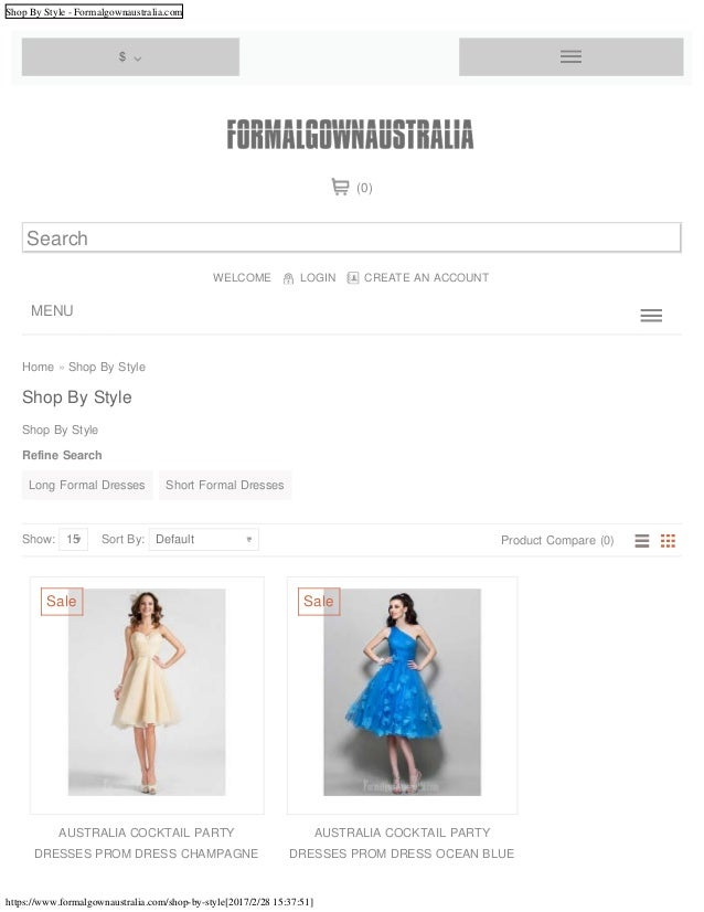 Shop By Style - Formalgownaustralia.com https://www.formalgownaustralia.com/shop-by-style[2017/2/28 15:37:51] Home » Shop ...