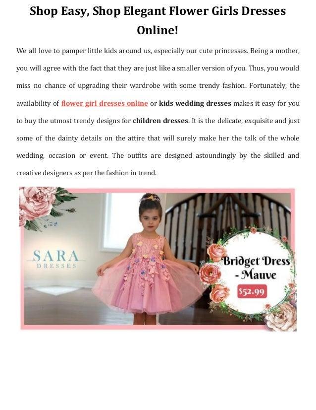 285aed77e Shop easy, shop elegant flower girls dresses online!
