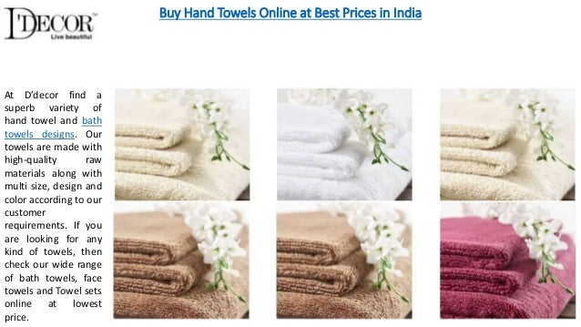 Shop For Home Decoration Items. Buy Hand Towels Online At Best Prices In  India At Du0027decor Find A Superb ...