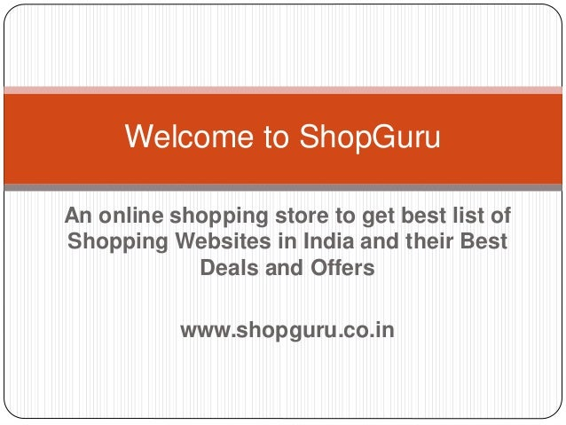 List of online shopping sites in india for List of online shopping websites